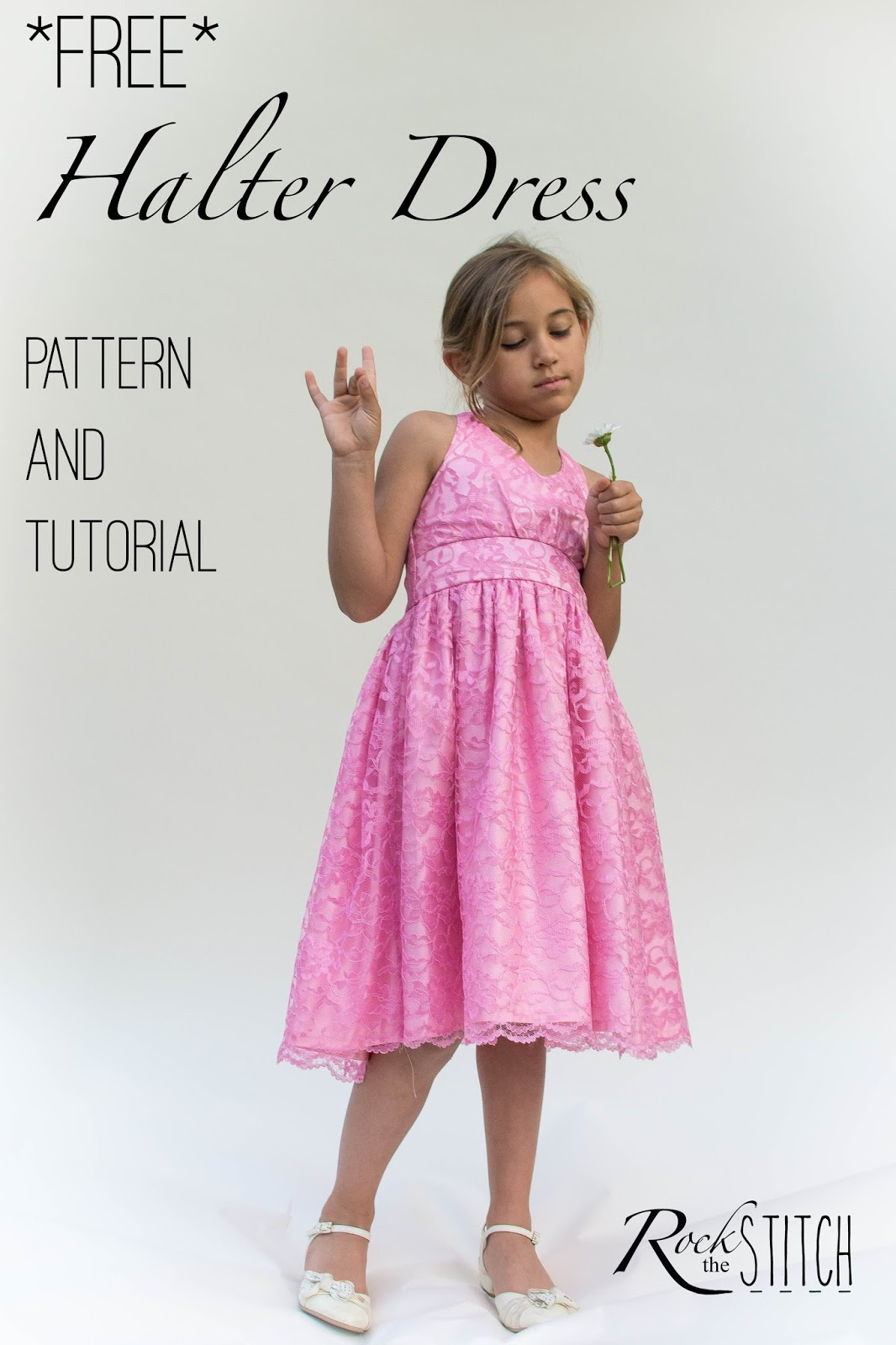 Rock the stitch free halter dress pattern and tutorial free halter dress pattern and tutorial jeuxipadfo Choice Image