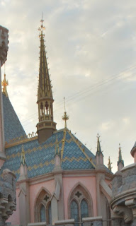 Notre Dame inspire section of Sleeping Beauty Castle