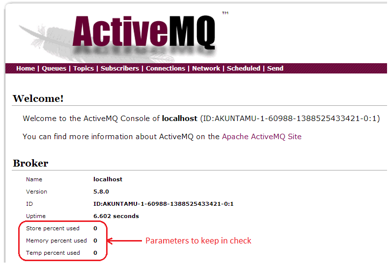 Temp, Store, and Memory Percent Usage in ActiveMQ - DZone