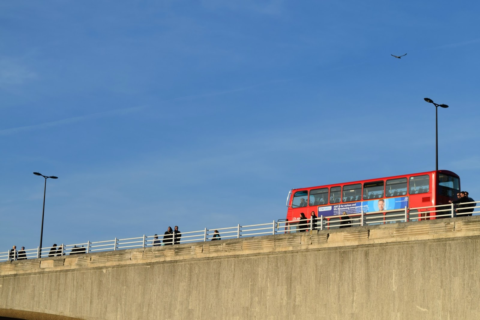 Red Bus and blue skies in London