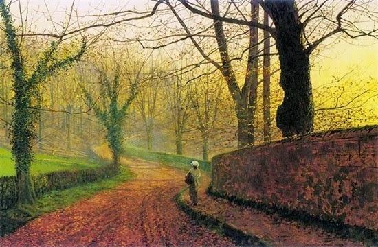 Stapleton Park near Pontefract Sun. J.A.Grimshaw  1877
