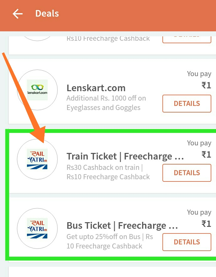 Freecharge New Recharge offer get RS 20 free recharge from