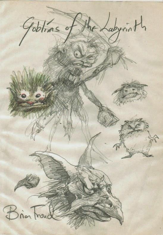 Brian Froud Labyrinth Concept Art