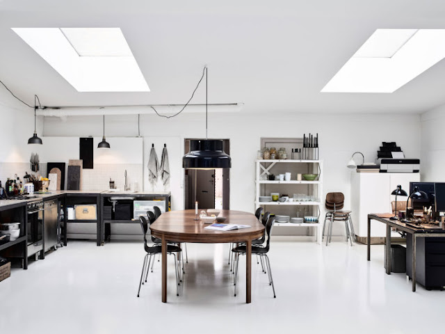 Interior Design - From Factory To Gallery Style Home in Copenhagen Photo by Kristian Septimius Krogh  {Cool Chic Style Fashion}