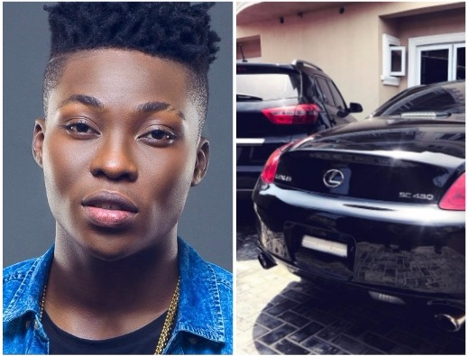 Reekado-Banks-bought-himself-New-Lexus-SC430