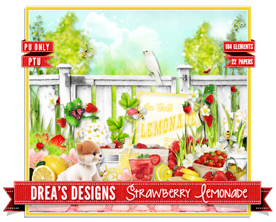 CT Tags For Drea's Designs ✿ Strawberry Lemonade ✿