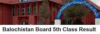 Balochistan Board 5th Class Result 2018