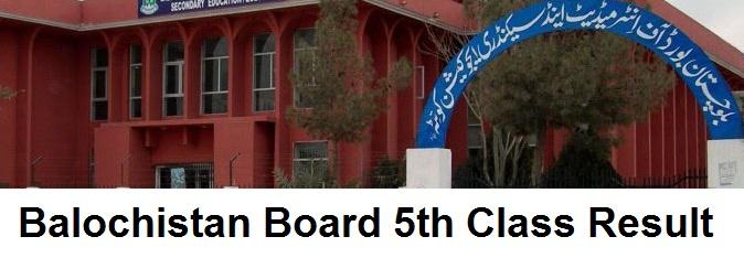 Balochistan Board 5th Class Result 2019