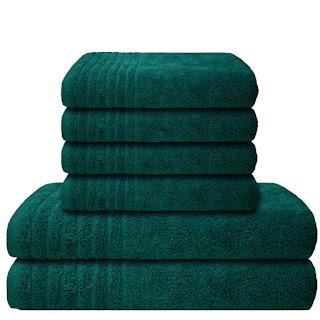 handtuch set dunkelgrün