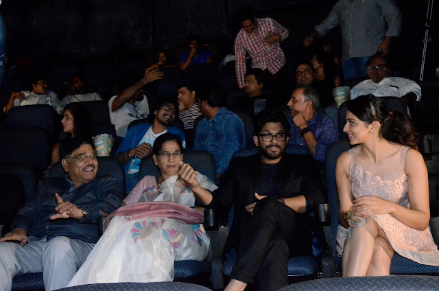 Allu Arjun, Rakul Preet Singh at Imax hyderabad