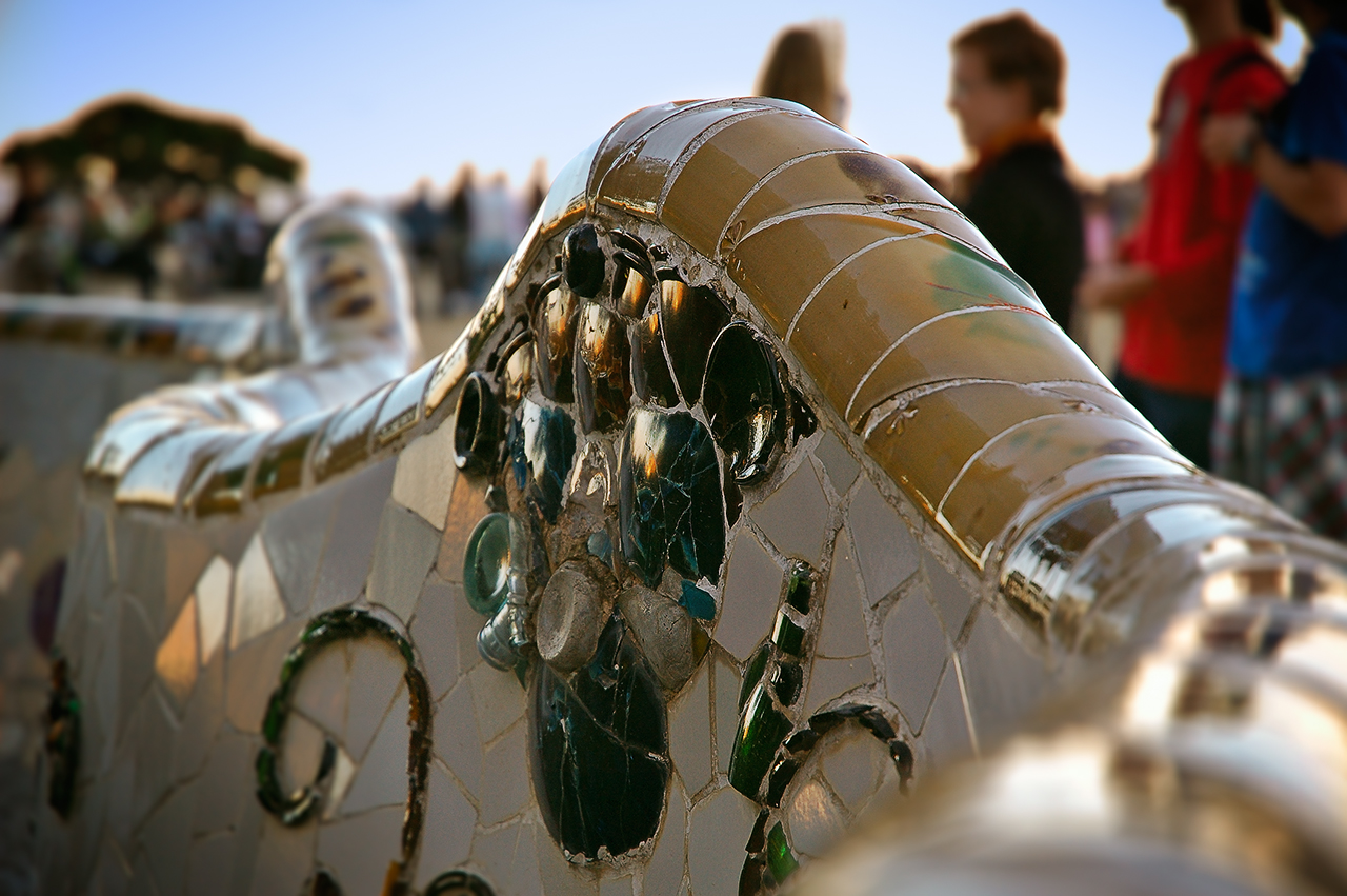 Serpentine bench by Gaudi in Park Guell