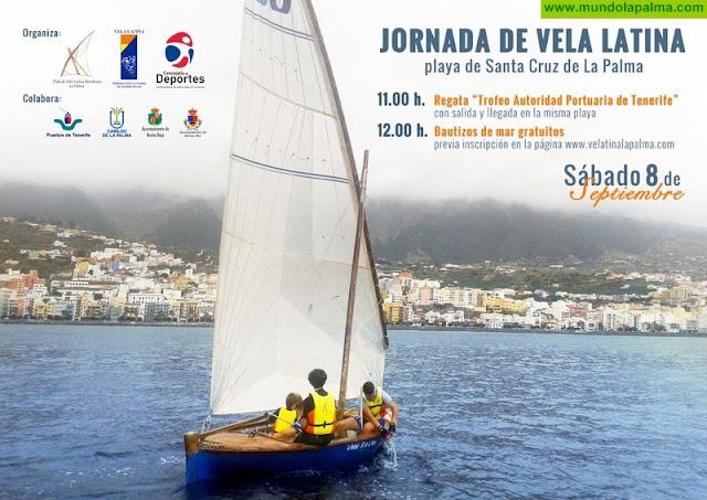 Jornada de vela latina en la playa de Santa Cruz de La Palma