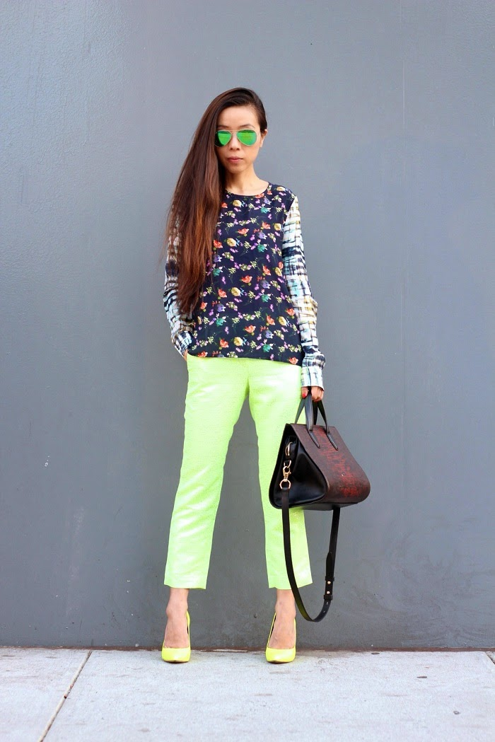 Piper lime collection,piperlime mix print blouse,tibipants,alexanderwangbag,solesoceity,sequinenycnecklace,ilycouturering,giginewyork,aqua,brianatwood,fromdaytonight,shallwesasa,ootd,ootn,rayban