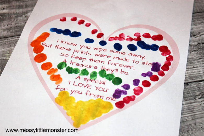 printable heart craft fingerprint poem