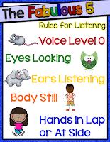 https://www.teacherspayteachers.com/Product/Fabulous-5-Rules-for-Listening-Chart-2115429