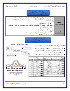 درس القياس والادوات العلمية في العلوم للصف السابع الفصل الاول 2018-2019
