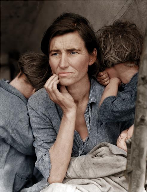 foto Florence Owens Thompson di tahun 1936