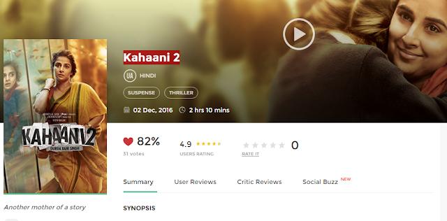 Kahaani 2 (2016) Full Hindi Movie 3gp Mp4 Hq Hd Avi 720P Download