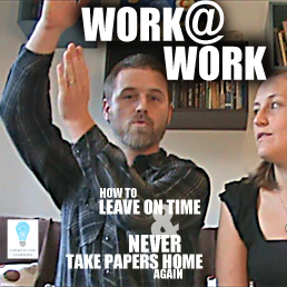 Today, we're talking about what it would look like if we worked at work and only worked at work. How come we work at home? How come we don't work at work? How come when we work at work we still have to work at home?