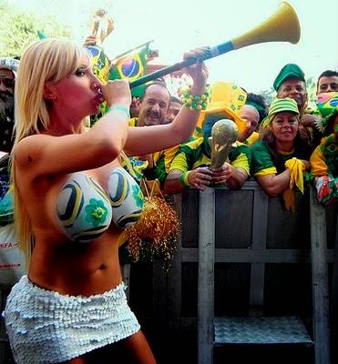 Brazil soccer boob