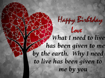 Happy Birthday Wishes And Quotes For the Love Ones: what i need to live has been given to me by the earth.