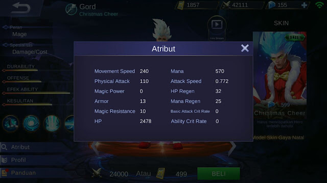 Gord, Jenis Hero Dalam Game Mobile Legends