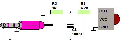 Soundcard IR adapter schematic