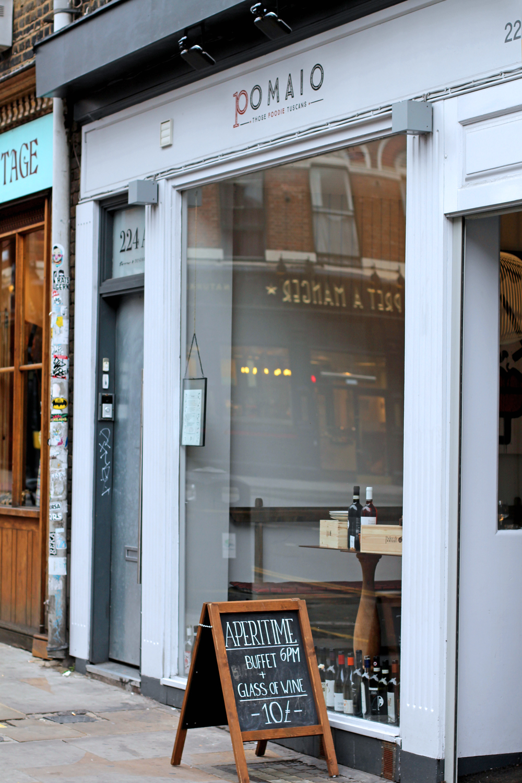 Enoteca Pomaio, new Italian restaurant, Brick Lane - London lifestyle blog