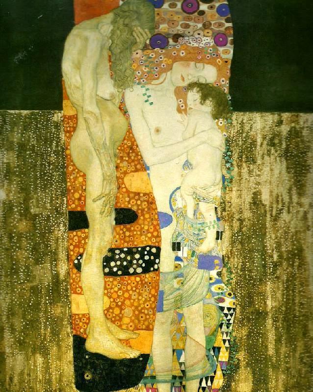As Três Idades da Mulher - Gustav Klimt e suas pinturas ~ Pintor simbolista austríaco