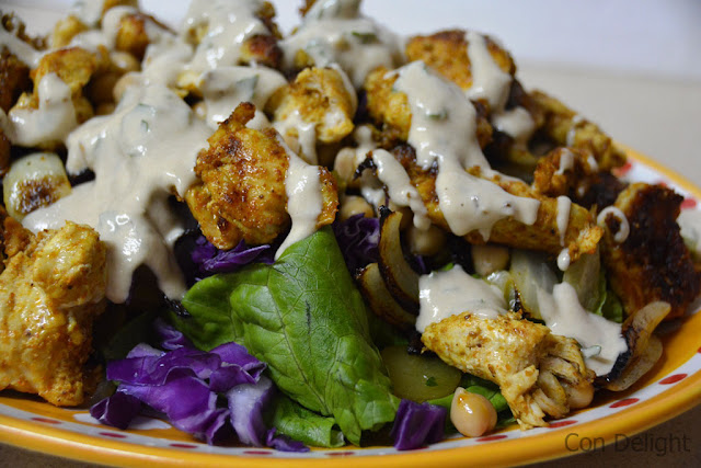סלט שוארמה טעים ובריא Healthy tasty shawarma salad