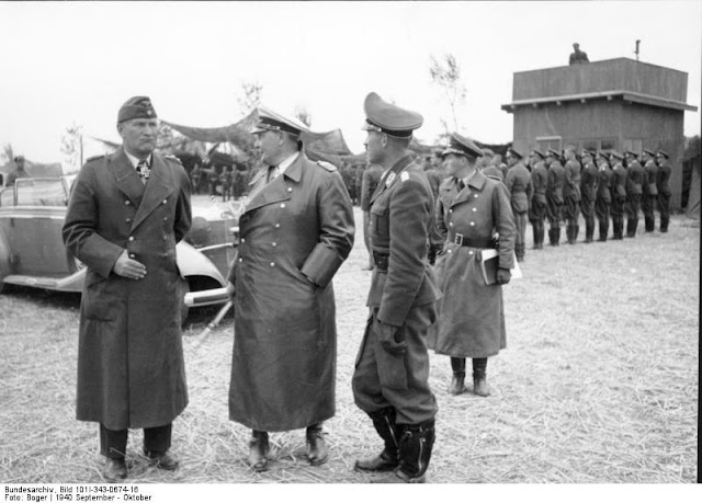 26 September 1940 worldwartwo.filminspector.com Goering Galland Loerzer inspection tour