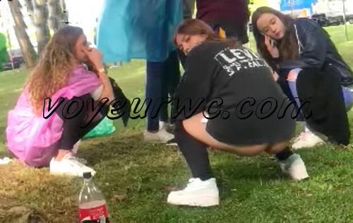 Girls Gotta Go 47 (Voyeur pee videos - Drunk spanish chicks peeing in public at festival)