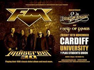 FM Indiscreet 30 tour date poster