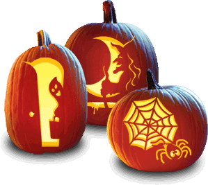 FREE Halloween Pumpkin Carving Stencils!