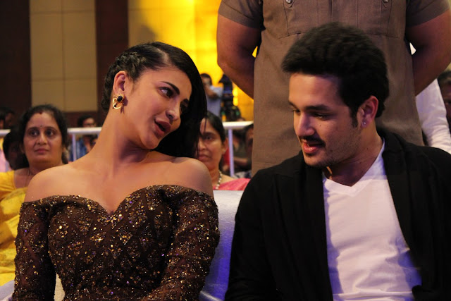 akkineni akhil, shruthi hassan at Premam telugu movie audio launch