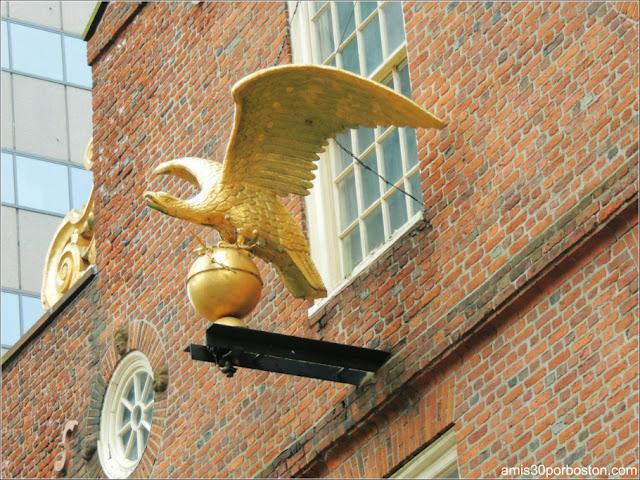 Águila del Old State House Boston