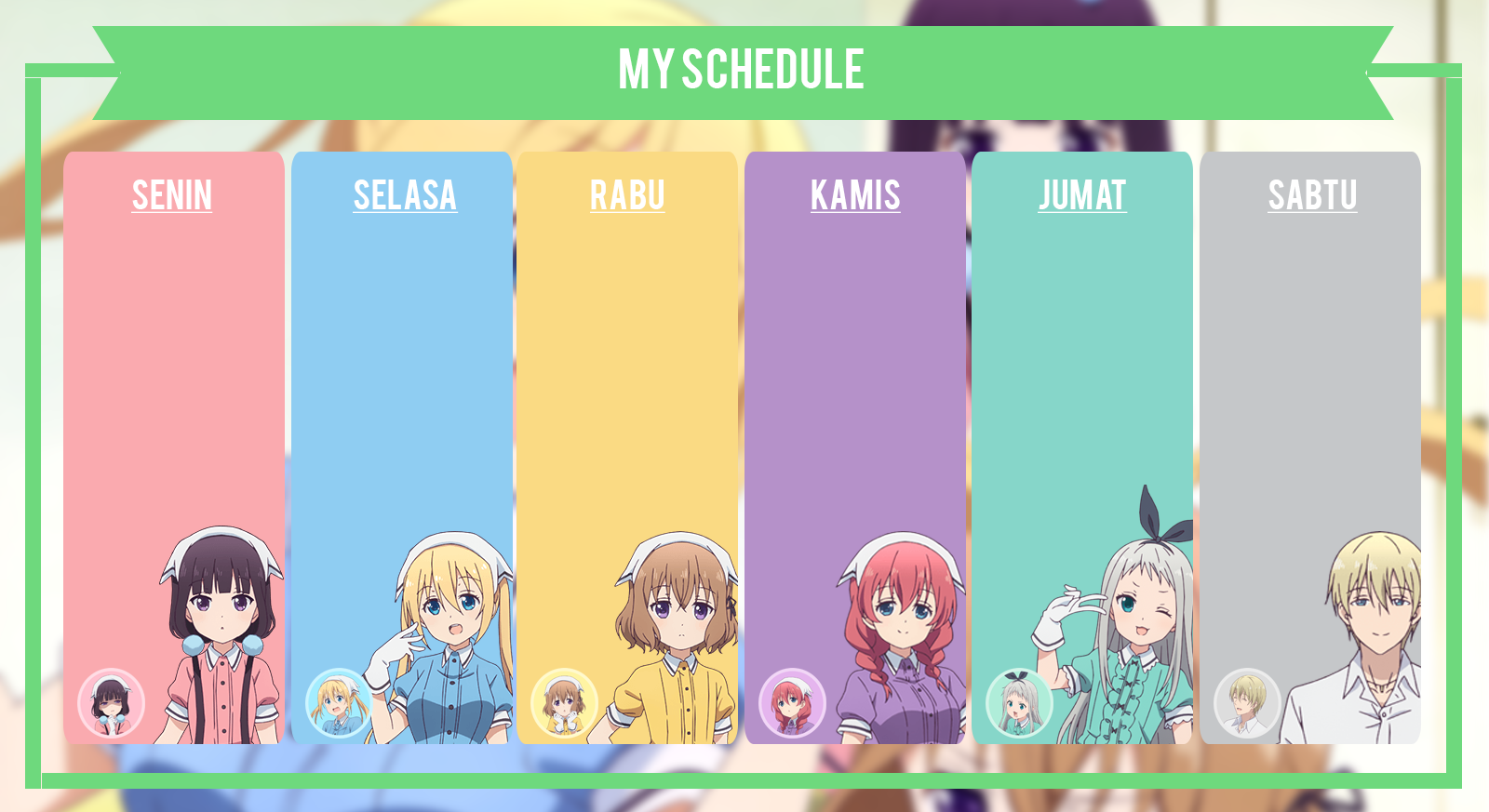 Anime schedule psd