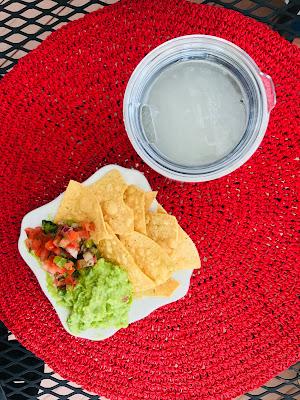 Guacamole, pico de gallo and margaritas