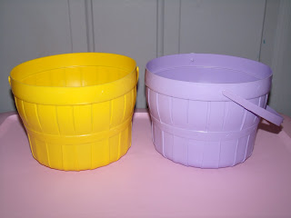 These cheap plastic Easter baskets came from a dollar store.