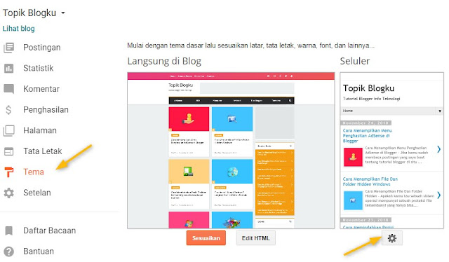 Cara Menonaktifkan Tampilan Versi Seluler di Blogger Cara Menonaktifkan Tampilan Versi Seluler di Blogger