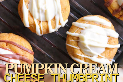 PUMPKIN CREAM CHEESE THUMBPRINT COOKIES