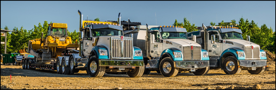 PGH Excavating Kenworth W990 and T880S dump trucks