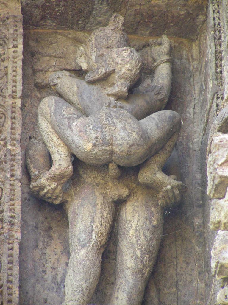 Architectural Details Of Ancient Sex Position Sculpture Stock Photos