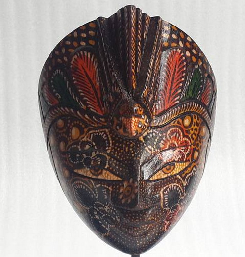 www.Tinuku.com Indra Jaya Craft studio awaken mask tradition in mystic rites into works of contemporary indoor décor