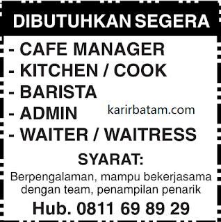 Lowongan Kerja Manager Cafe dan Admin Lulusan SMA
