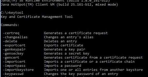 Java keytool import certificate into keystore | Peatix