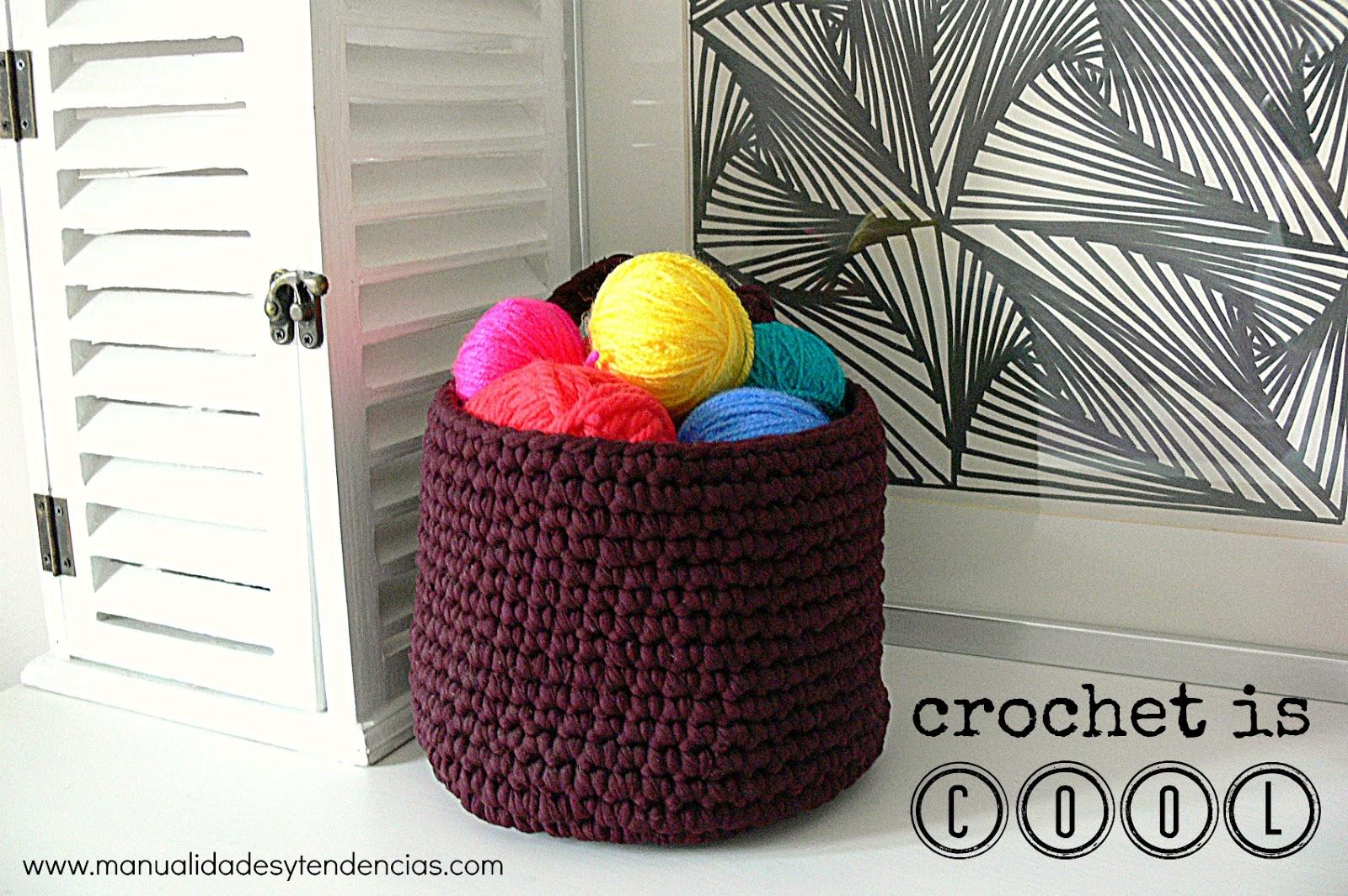 Excelente Patrones Cesta De Crochet Libre Foto - Manta de Tejer ...
