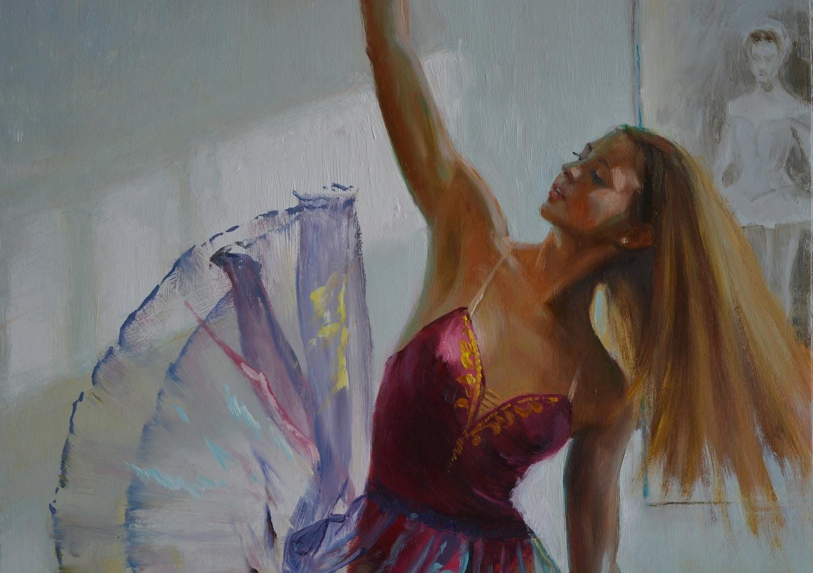 Gulyás László - Pinturas de bailarinas