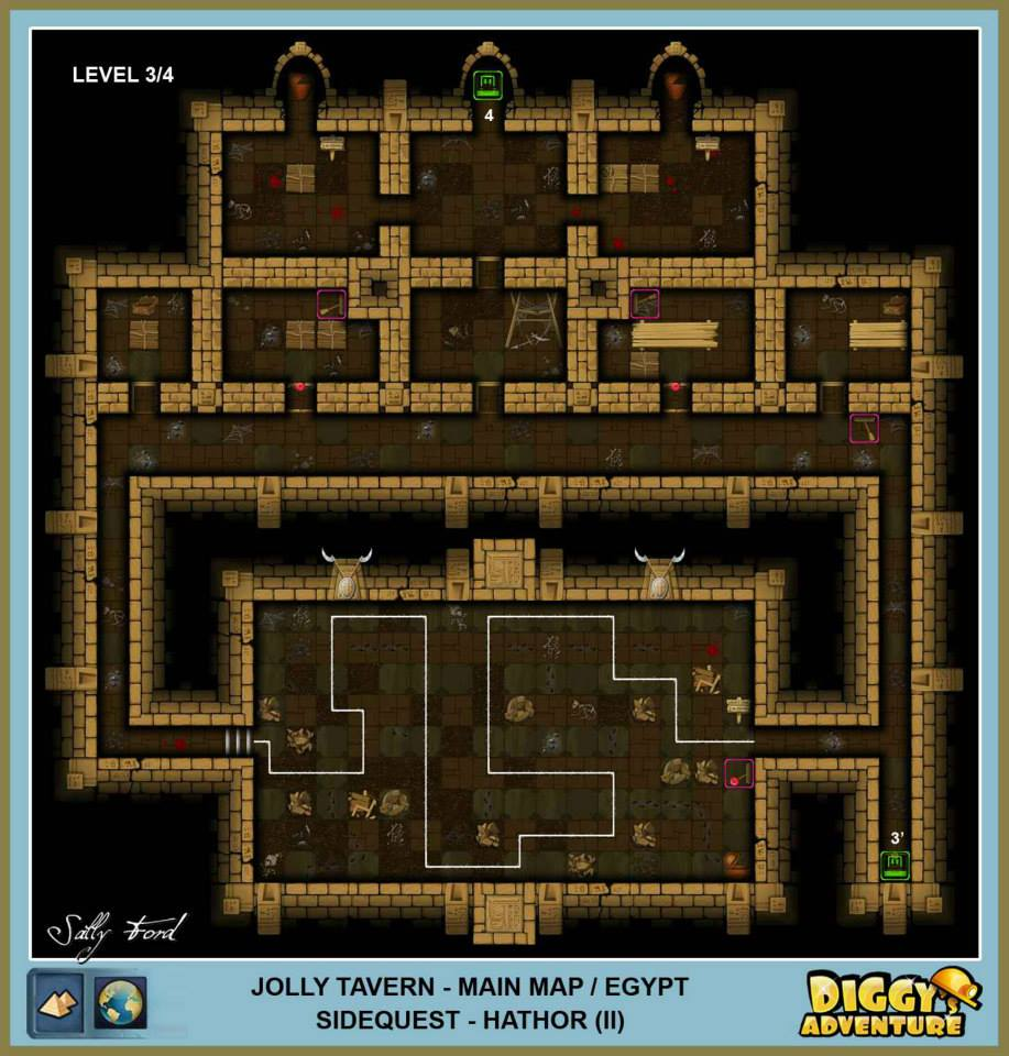Diggy's Adventure Walkthrough: Egypt Main / Jolly Tavern