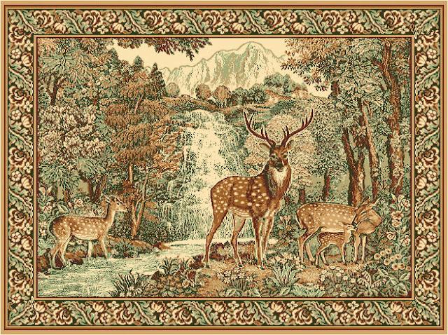 Russian carpet with deer